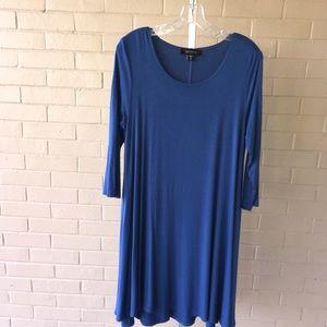 EXC Women's Karen Kane Teal Blue Dress Medium